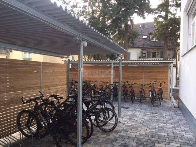 Überdachter Fahrradstellplatz