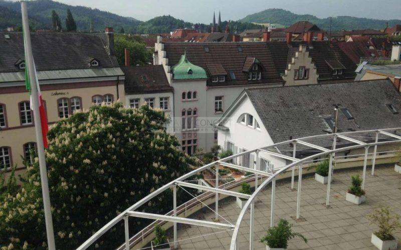 Blick von der zweiten Terrasse